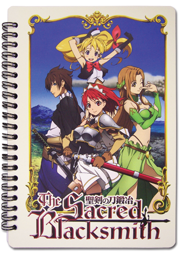 Sacred Blacksmith Group Notebook officially licensed Sacred Blacksmith Stationery product at B.A. Toys.
