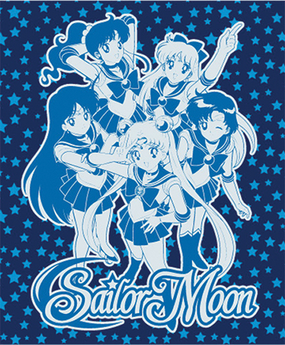 Sailormoon Group Throw Blanket, an officially licensed product in our Sailor Moon Blankets & Linen department.