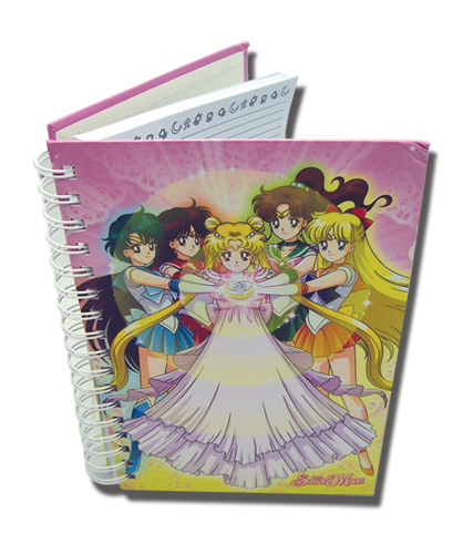 Sailormoon Moon Dress Hardcover Notebook officially licensed Sailor Moon Stationery product at B.A. Toys.