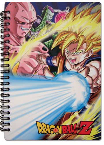 Dragon Ball Z Ss Goku And Villians Notebook, an officially licensed Dragon Ball Z Stationery