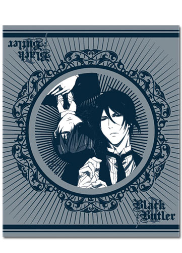 Black Butler 2 Sebastain & Ciel Throw Blanket, an officially licensed Black Butler product at B.A. Toys.