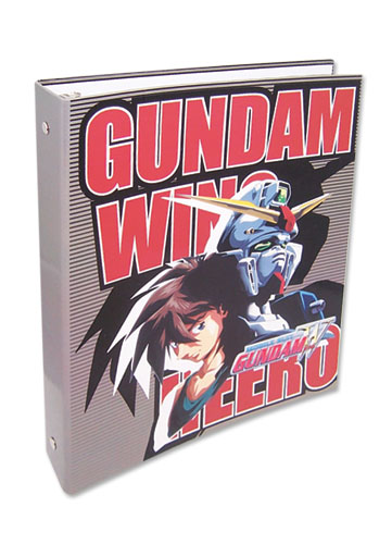Gundam Wing Heero And Wing Binder, an officially licensed product in our Gundam Wing Binders & Folders department.