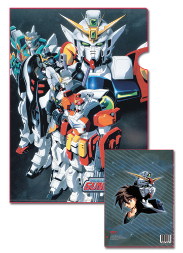 Gundam Wing Gundam Team File Folder, an officially licensed product in our Gundam Wing Binders & Folders department.