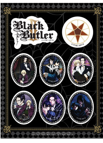 Black Butler 2 Group Stickers, an officially licensed Black Butler product at B.A. Toys.