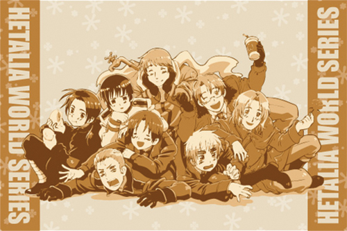Hetalia World Series Group Pillow Case officially licensed product at B.A. Toys.