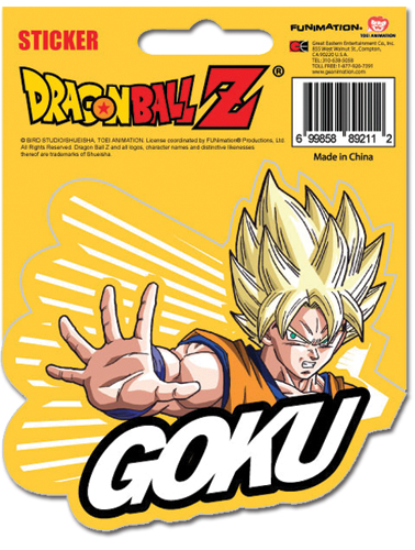 Dragon Ball Z Ss Goku Sticker officially licensed product at B.A. Toys.