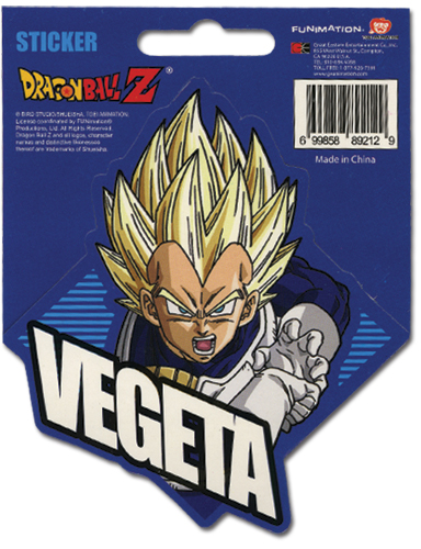 Dragon Ball Z Ss Vegeta Sticker officially licensed product at B.A. Toys.
