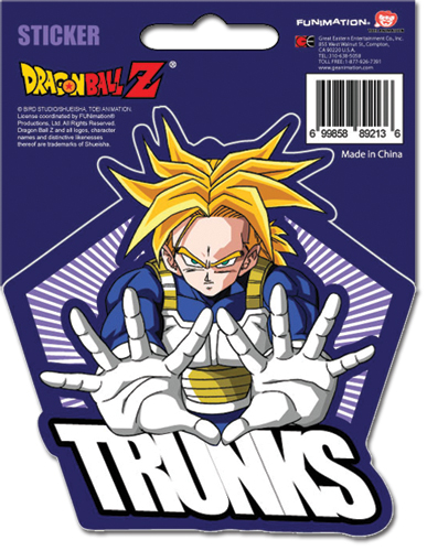 Dragon Ball Z Ss Trunks Sticker officially licensed product at B.A. Toys.