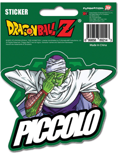 Dragon Ball Z Piccolo Sticker officially licensed product at B.A. Toys.