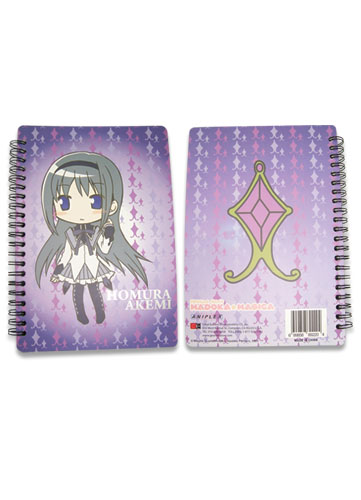 Madoka Magica Homura Softcover Notebook officially licensed Madoka Magica Stationery product at B.A. Toys.