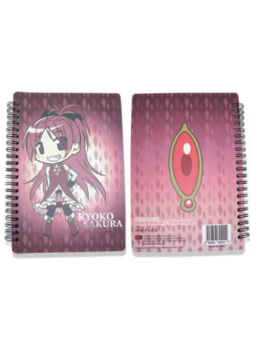 Madoka Magica Kyoko Softcover Notebook officially licensed Madoka Magica Stationery product at B.A. Toys.