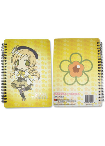 Madoka Magica Mami Softcover Notebook officially licensed Madoka Magica Stationery product at B.A. Toys.