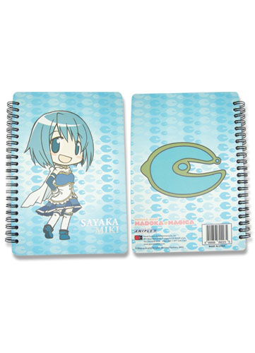 Madoka Magica Sayaka Softcover Notebook officially licensed Madoka Magica Stationery product at B.A. Toys.