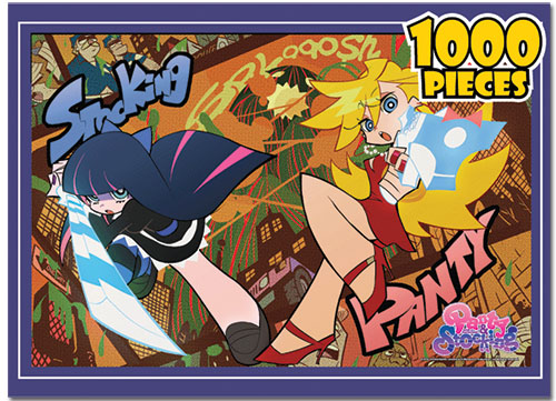 Panty & Stocking Panty And Stocking 1000pcs Jigsaw Puzzle officially licensed Panty & Stocking Puzzles product at B.A. Toys.