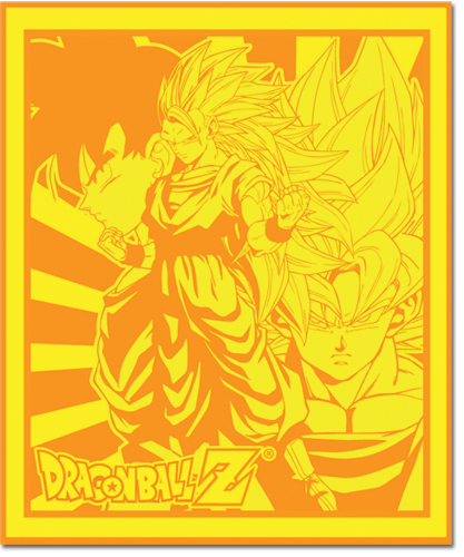 Dragon Ball Z Goku Throw Blanket, an officially licensed Dragon Ball Z product at B.A. Toys.
