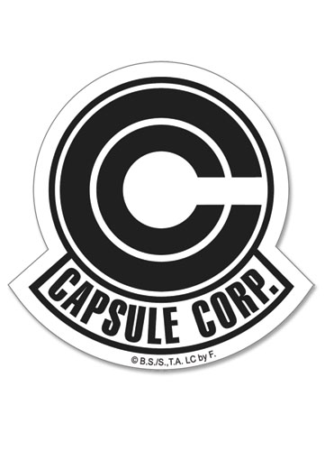 Dragon Ball Z Capsule Corp Symbol Sticker officially licensed product at B.A. Toys.