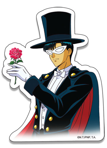 Sailormoon Tuxedo Kamen Sticker, an officially licensed product in our Sailor Moon Stickers department.