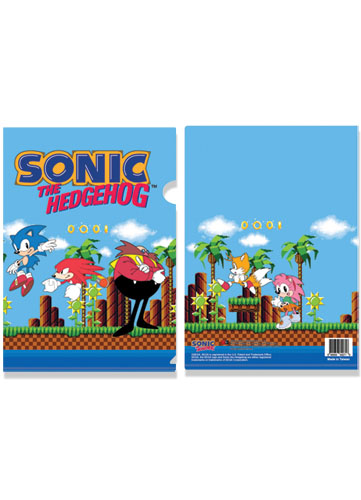 Classic Sonic Group File Folder, an officially licensed Sonic Binder/ Folder