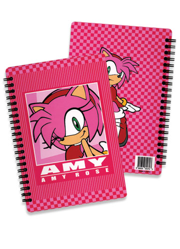 Sonic The Hedgehog Amy Softcover Notebook officially licensed Sonic Stationery product at B.A. Toys.