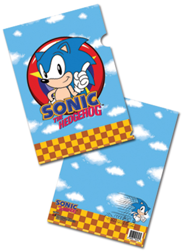 Classic Sonic Sonic File Folder, an officially licensed product in our Sonic Binders & Folders department.