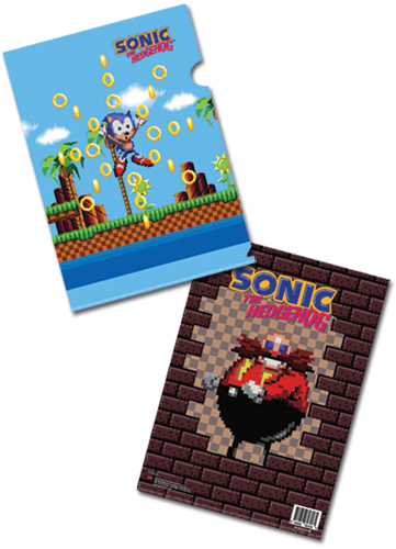 Classic Sonic Oops File Folder, an officially licensed Sonic Binder/ Folder