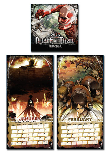 Attack On Titan - 2016 Calendar officially licensed Attack On Titan Stationery product at B.A. Toys.