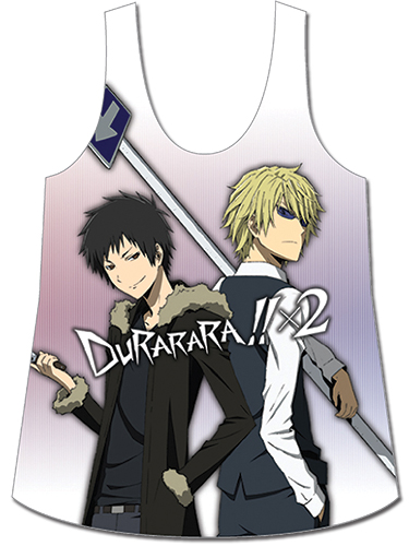 Durarara!!x2 - Izaya & Shizuo Tank Top Xl officially licensed Durarara!! T-Shirts product at B.A. Toys.