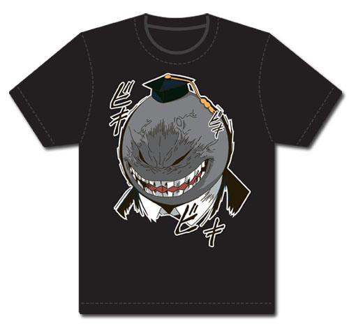 Assassination Classroom - Angry Koro Sensei Screenprint T-Shirt L, an officially licensed Assassination Classroom product at B.A. Toys.