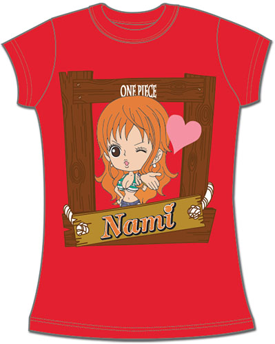 One Piece - Sd Nami Jrs. Screen Print T-Shirt XXL, an officially licensed product in our One Piece T-Shirts department.