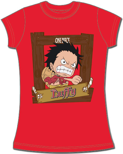 One Piece - Sd Luffy Jrs. Screen Print T-Shirt L officially licensed One Piece T-Shirts product at B.A. Toys.