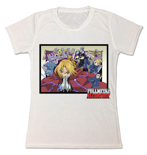 Fullmetal Alchemist - Edward & Minis Jrs. Sublimation T-Shirt officially licensed Fullmetal Alchemist T-Shirts product at B.A. Toys.