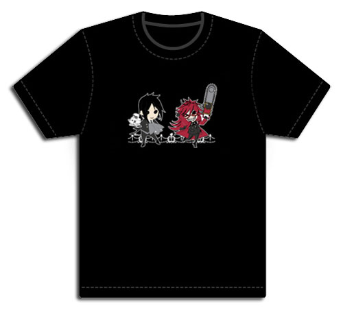 Black Butler - Sebastian & Grell Mens T-Shirt S, an officially licensed Black Butler product at B.A. Toys.