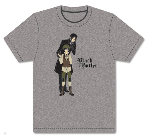 Black Butler - Sebastian & Ciel Disguise Mens Screen Print T-Shirt L, an officially licensed Black Butler product at B.A. Toys.