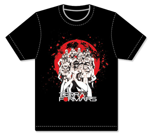 Terra Formars - Group Men's Screen Print T-Shirt L, an officially licensed product in our Terra Formars T-Shirts department.