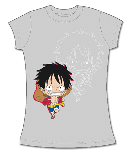 One Piece - Sd Luffy Jrs Screen Print T-Shirt L, an officially licensed product in our One Piece T-Shirts department.