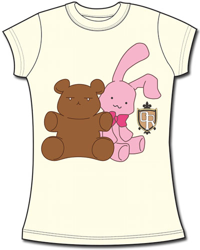 Ouran H.S. Host Club - Bear & Bunny Jrs.Screen Print T-Shirt L, an officially licensed product in our Ouran High School Host Club T-Shirts department.