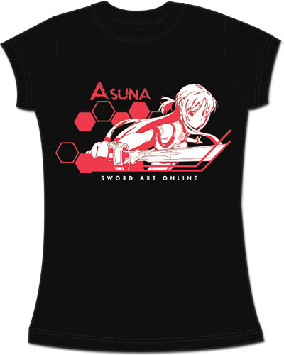 Sword Art Online - Asuna Jrs. Screen Print T-Shirt L officially licensed Sword Art Online T-Shirts product at B.A. Toys.