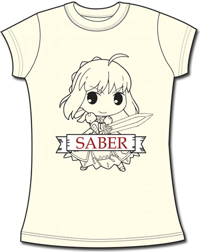 Fate/stay Night - Sd Saber Jrs Screen Print T-Shirt L officially licensed Fate/Zero T-Shirts product at B.A. Toys.