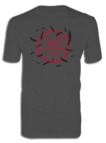 Black Butler - Curse Symbol & Feathers Men's Screen Print T-Shirt L, an officially licensed product in our Black Butler T-Shirts department.