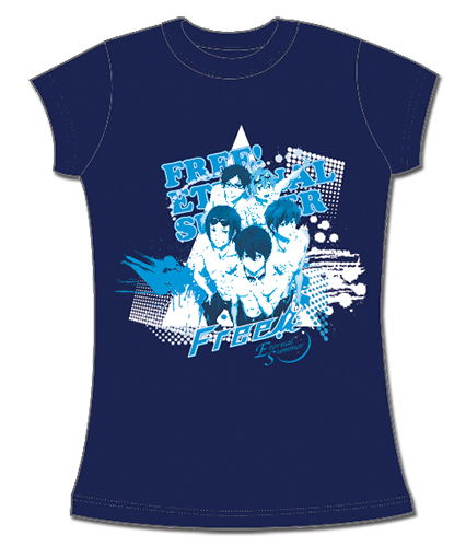 Free! 2 - Group Screen Print T-Shirt L officially licensed Free! T-Shirts product at B.A. Toys.
