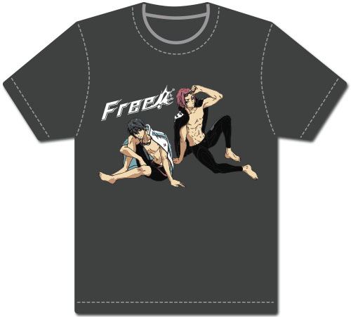 Free - Haruka & Rei Men's Screen-Print T-Shirt L, an officially licensed product in our Free! T-Shirts department.
