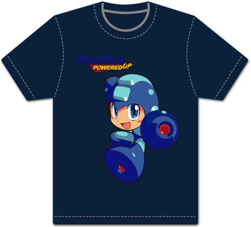 Megaman Powered Up - Megaman Sd Men's Screen Print T-Shirt L, an officially licensed product in our Mega Man T-Shirts department.