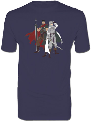 Berserk - Guts & Griffith Mens Screen Print T-Shirt L, an officially licensed Berserk product at B.A. Toys.