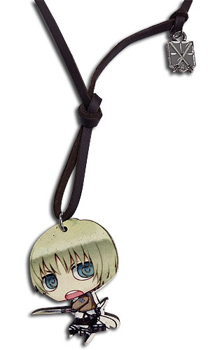 Attack On Titan - Wooden Armin Chibi Necklace, an officially licensed product in our Attack On Titan Jewelry department.