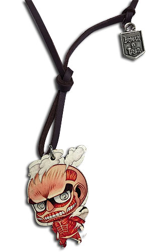 Attack On Titan - Wooden Titan Chibi Necklace, an officially licensed product in our Attack On Titan Jewelry department.