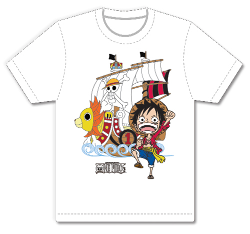 One Piece - Sd Luffy & Sunny Men's Screen Print T-Shirt L, an officially licensed product in our One Piece T-Shirts department.