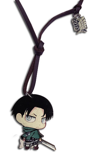 Attack On Titan - Levi Wooden Chibi Necklace, an officially licensed Attack On Titan product at B.A. Toys.