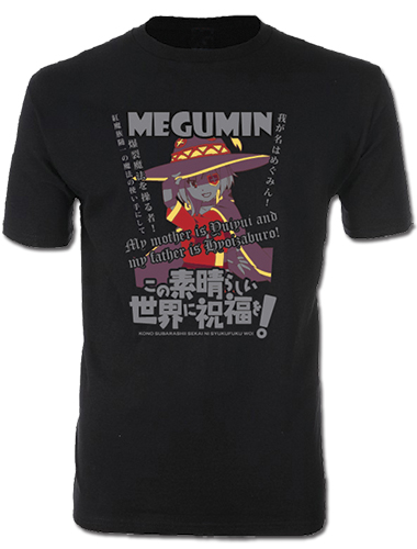 Konosuba - Megumin Men's Screen Print T-Shirt M, an officially licensed product in our Konosuba T-Shirts department.