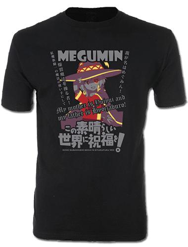Konosuba - Megumin Men's Screen Print T-Shirt M, an officially licensed product in our Konosuba T-Shirts department.