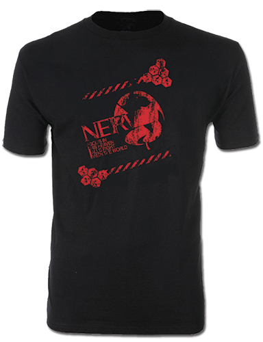 Evangelion New Movie - New Logo (Distressed) Men's Screen Print T-Shirt S, an officially licensed product in our Evangelion T-Shirts department.